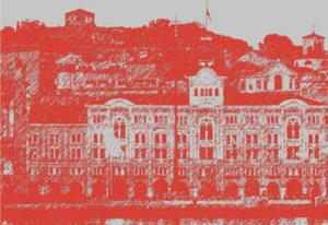 """Dettaglio della copertina dell'opuscolo """"Come sta Trieste?"""" dedicato alla conferenza sulla salute della città del 26 maggio 2012."""