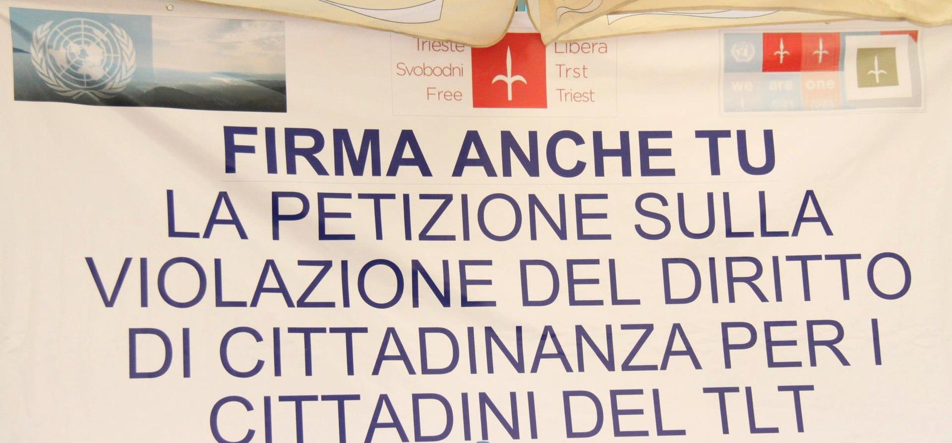 Gazebo Petizione Cittadinanza TLT — Raccolta Firme giugno 2012