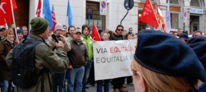 Presidio alla sede di Equitalia: basta tasse italiane illegali a Trieste!