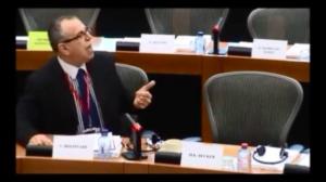 Commissione Petizioni della UE. Victor Boştinaru risponde durante la discussione delle petizione di Roberto Giurastante.
