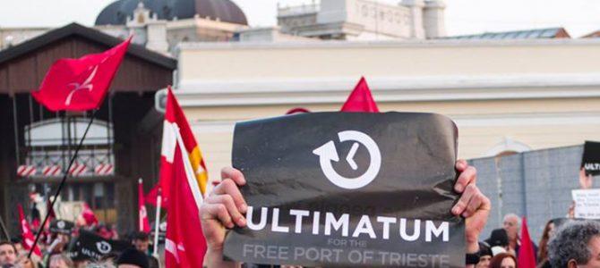 Testo dell'Ultimatum per il Porto Franco Internazionale di Trieste