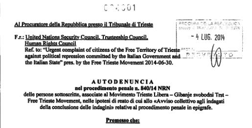 Manifestazione in porto: Trieste Libera si autodenuncia