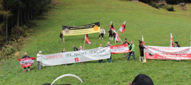 Trieste Libera al Brennerpass con i Sudtirolesi: partecipazione molto apprezzata ed applaudita