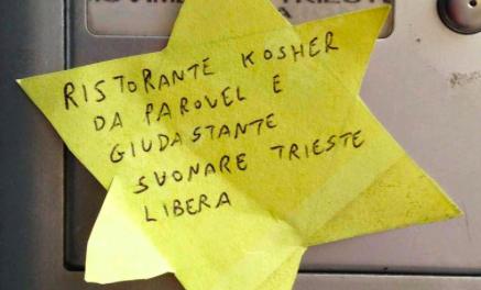 STELLA DI DAVID GIALLA CONTRO TRIESTE LIBERA