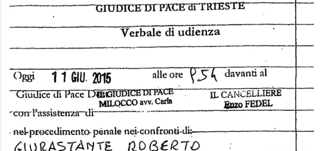 L'INESISTENTE GIUDICE DI PACE ITALIANO DICHIARA INESISTENTE IL TERRITORIO LIBERO DI TRIESTE CON L'APPOGGIO DEI FALSI INDIPENDENTISTI