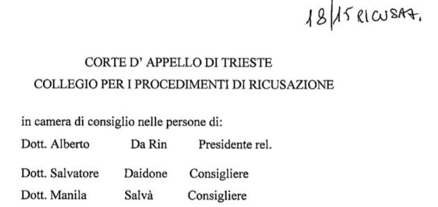 LA FUGA DELLA GIUSTIZIA ITALIANA SULLA QUESTIONE DEL TERRITORIO LIBERO DI TRIESTE