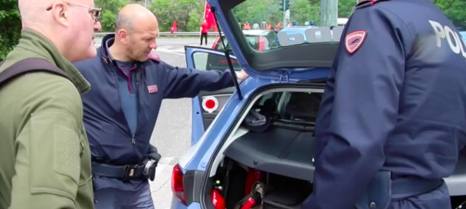 Trieste Libera: risposta legalitaria alla polizia italiana sul confine – maggio 2016