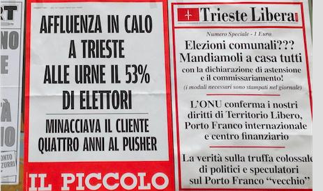 Elezioni 5 giugno: Trieste Libera soddisfatta del risultato delle astensioni passive ed attive chiederà ora il commissariamento dei Comuni