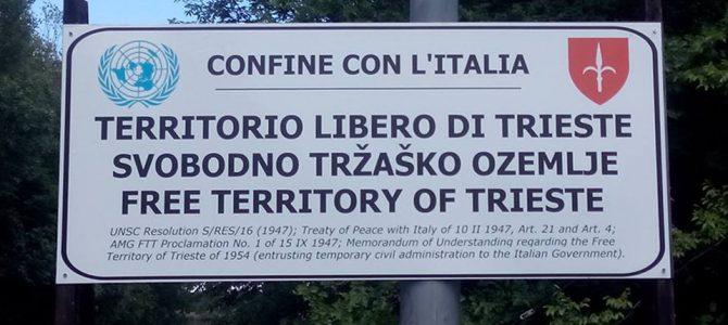 Trieste Libera: sulla segnalazione del confine con l'Italia