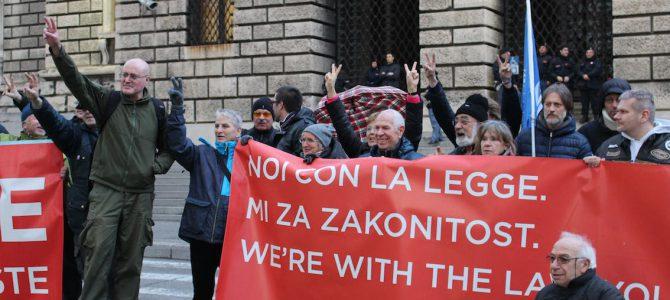 Presidio e presentazione atti al tribunale di Trieste