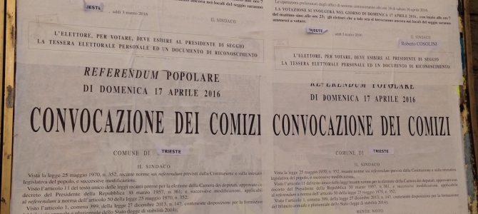 Referendum antitrivelle in Adriatico: estensione a Trieste e rischi di nullità