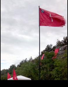Bandiera di Trieste sul confine