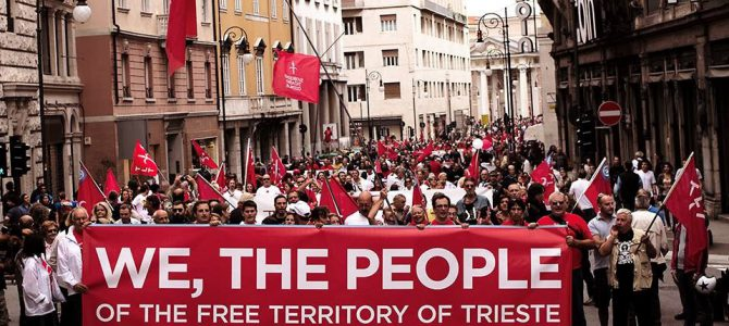15 settembre 2013: grande corteo per l'anniversario dell'indipendenza del Territorio Libero di Trieste