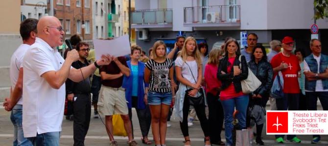 Video dell'incontro di Trieste Libera con i residenti di Roiano per parlare dell'ex caserma
