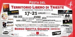 """Locandina della """"Festa del Territorio Libero di Trieste"""" organizzata nel luglio 2013 da Trieste Libera."""