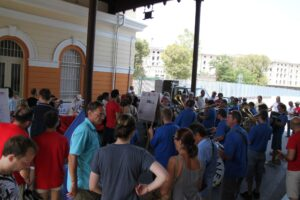 Manifestazione di Trieste Libera contro la sdemanializzazione del Porto Franco Nord (luglio 2012).