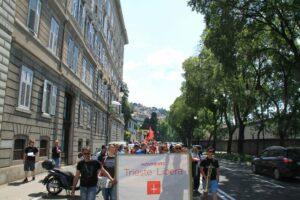 Manifestazione di Trieste Libera contro la sdemanializzazione del Porto Franco Nord (maggio 2012).