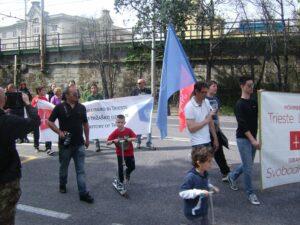 Manifestazione di Trieste Libera contro la sdemanializzazione del Porto Franco Nord (settembre 2012).