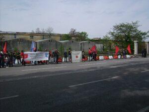 Manifestazione di Trieste Libera contro la sdemanializzazione del Porto Franco Nord (april 2012).
