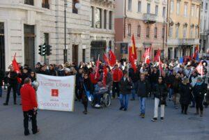 2013: corteo di Trieste Libera contro le illegittime elezioni italiane. #NoElectionDay