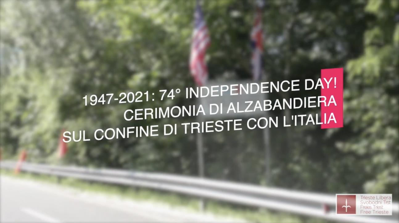 Trieste Independence Day 2021: alzabandiera al confine con l'Italia