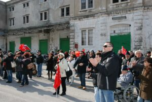 2013, Porto Franco Nord: comizio di Trieste Libera contro le illegittime elezioni italiane.