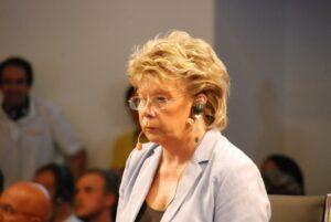 Vivane Reding a Trieste per la conclusione del ciclo di conferenze sul futuro dell'Europa.