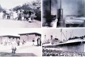 """Le quattro immagini tratte dalla copertina del libro """"Metamorfosi etniche"""" di P. Purini."""