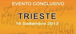 Illustrazione promozionale per l'evento conclusivo del ciclo di conferenze sul futuro dell'Europa, tenuto a Trieste il 16 settembre 2013.